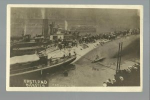 Chicago ILLINOIS RP 1915 EASTLAND DISASTER Shipwreck Deaths Bodies TIPPED OVER