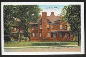 Elks Club De Kalb Illinois Unused c1920s
