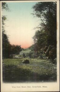 Greenfield MA From Bears Den c1905 Postcard