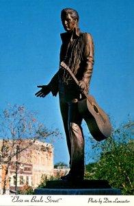 Tennessee Memphis Elvis Statue On Beale Street