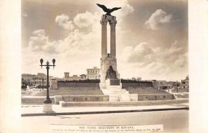 Havana Cuba The Maine Monument Real Photo Antique Postcard J80039