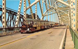 Sault Ste Marie Michigan~Soo Tour Train Crossing International Bridge~1970s Pc