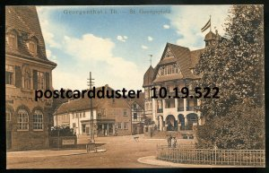 522 - GERMANY Georgenthal 1910s Thuringia. Georgsplatz. Hotel Kaffee- Restaurant