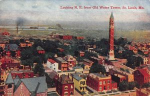 N.E. from Old Water Tower, St. Louis, MO Woman's World Ad ca 1910s Postcard