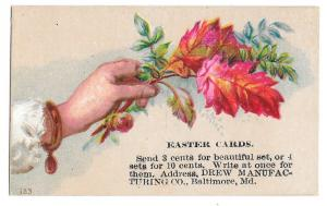 Victorian Trade Card Easter Cards Drew Manufacturing Baltimore MD SMALL Advert