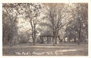 Prospect Park Pennsylvania Gazebo Real Photo Antique Postcard K101653