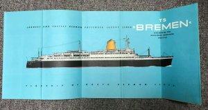 NORTH GERMAN LLOYD, TS BREMEN, Deck Plan of First & Tourist Class Booklet