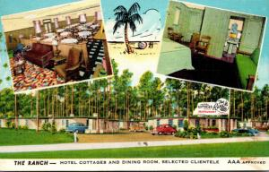 Florida Jacksonville The Ranch Hotel Cottages and Restaurant 1951