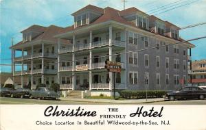 Wildwood New Jersey~Christine the Friendly Hotel~Classic Cars in Street~1965 Pc