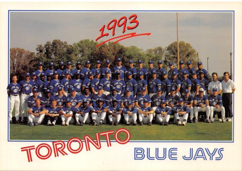 Toronto Canada Baseball Blue Jays POSTCARD 1993