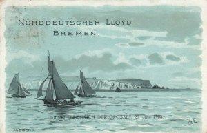 Norddeutscher Llyod Bremen Dampfer Friedrich Der Grosse , LANDSEND , 1908
