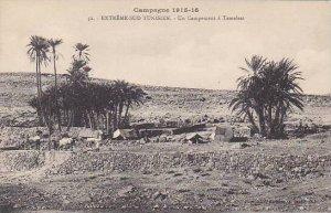 Tunisia Campagne 1915-17 Un Campement a Tamelest