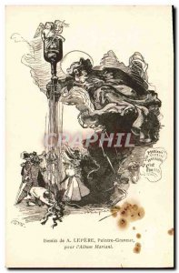Postcard Old Death Lepere Drawing for & # 39album Mariani