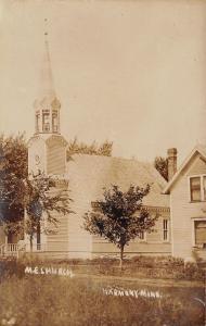 Harmony MN United Methodist Episcopal Church~Parsonage? RPPC c1909