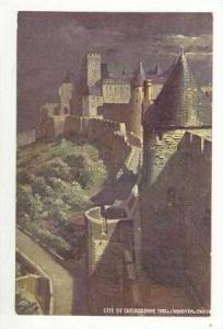Carcassonne (Aude), France, Tour de Linquisition el Charter, 1900-10s