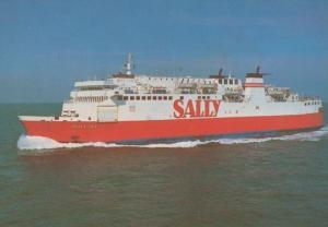 Sally Sky Ferry Ferries Advertising Postcard