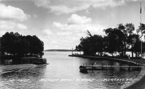 GREEN LAKE, WISCONSIN THE POINT, NORTHERN BAPTIST RPPC REAL PHOTO POSTCARD