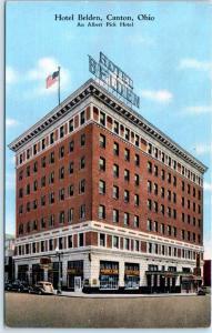 CANTON, Ohio  OH   Roadside  HOTEL BELDEN  ca 1940s Linen   Postcard