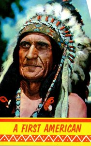 American Indian Chief A First American