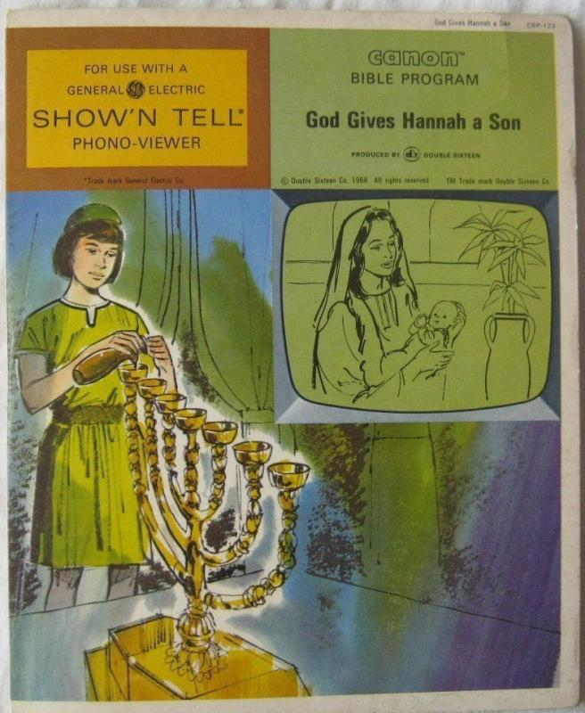 Vintage God Gives Hannah A Son Canon Bible Program For GE Show N Tell 1966