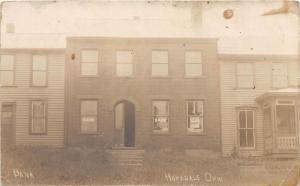 E72/ Hopedale Ohio Real Photo RPPC Postcard 1911 Bank Building