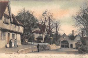 Penshurst Kent England 1906 Postcard The Village Tunbridge Wells Cancel