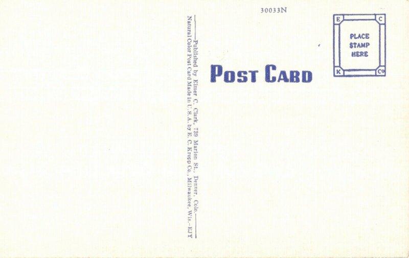 Union Printers Home, Colorado Springs, Colorado Vintage Linen Postcard
