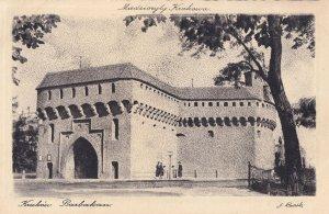 Krakow Barbakan Antique Poland Postcard