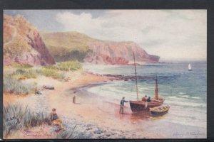 Devon Postcard - Orcombe Head, Exmouth - Artist Henry Wimbush   HP101
