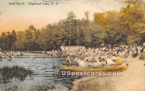 Sand Beach Highland Lake (Venoge, 1897 - 1911) NY 1933