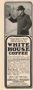 1903 White House Coffee Original Print Ad 2T1-47