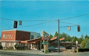 Palm Motel. 1252 N. W. Sixth, Grants Pass, OR Postcard