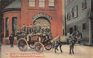 John W Tillinghast Hose Co No 9 House Cor Providence, Rhode Island, USA Unused