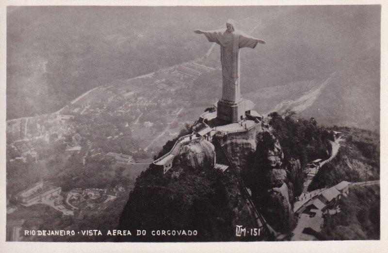RP; RIO DE JANEIRO, Brazil, 1920-1940s; Vista Aerea Do Corcovado