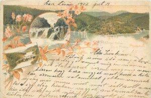 Postcard Hungary Plitviezai tavak 1902