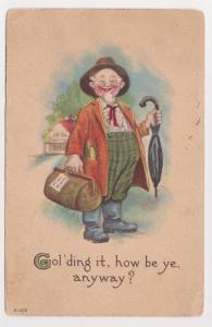 Bridgeport PA to Strasburg Bergman Old Man Comic Postcard Early 1900s A37