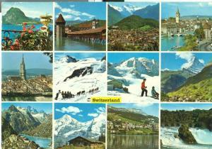 Switzerland, Suisse, Multi view used Postcard