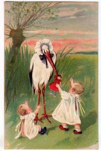 Stork - Two Small Children