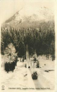 1920s Washington Toboggan Chute Longmire Springs Rainer RPPC Photo Postcard 2959