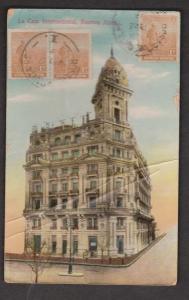 La Caja Internacional, Buenos Aires, Argentina - Used 1910s - Heavy Creases & We