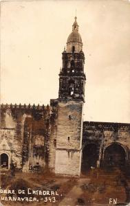 D76/ Mexico City Real Photo RPPC Postcard Cathedral Building 1938