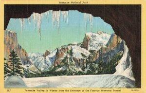 Postcard Yosemite Valley in Winter Nevada