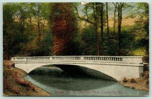 Louisville Kentucky~Cherokee Park~Bridge No 5~Concrete Arch~1919 Postcard