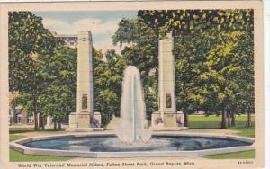 Michigan Grand Rapids World War Veterans Memorial Pillars Fulton Street Park ...