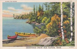 Michigan Greetings From Elk Rapids Curteich
