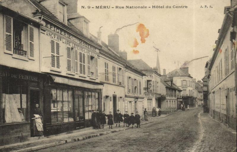 CPA MÉRU - Rue Nationale - Hotel du Centre (131000)
