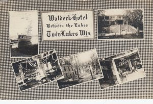 RP; TWIN LAKES , Wisconsin, 1910 ; Waldeck-Hotel