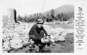 Location of Sutter's Mill, world-famous gold discovery 1848 CA, USA Mining Un...