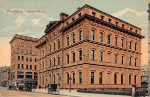 Post Office, Trenton, New Jersey, Early Postcard, Unused