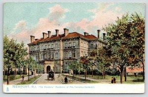 Newport Rhode Island~Mrs Cornelius Vanderbilt Residence The Breakers~1906 TUCK